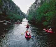 canoe on the cetina river